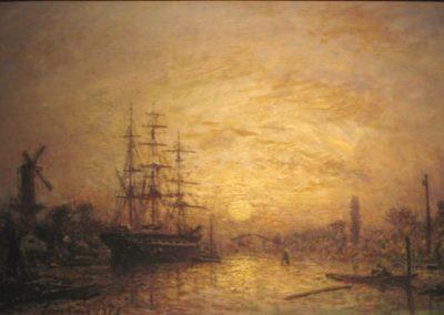 Coucher de soleil en Hollande 1873