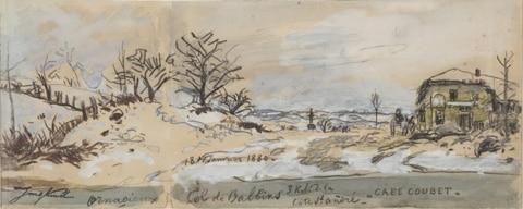 Paysage de neige à  Ornacieux  Col de Balbins 18 janvier 1880