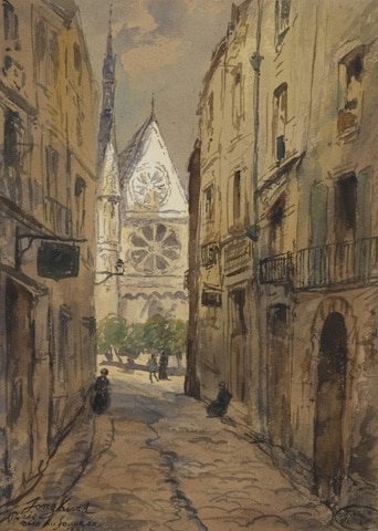 Une rue de Paris 1861
