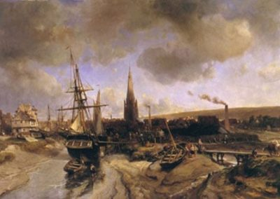 Vue du port d'Harfleur 1850