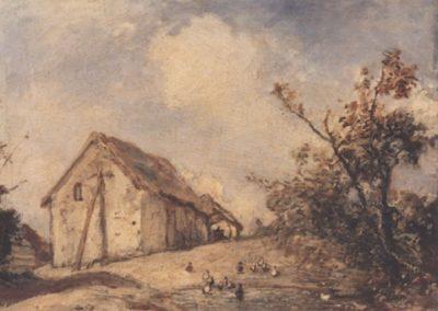 Paysage à  la mare aux canards 1863