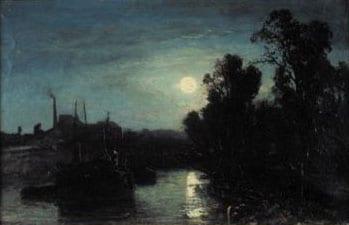 Rivière au clair de lune 1853