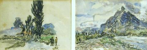 Paysage près de Grenoble, Dauphiné 1882