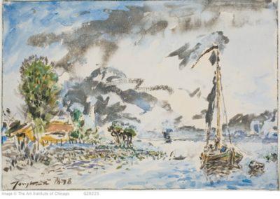 Le lac Léman à  Nyon 1875