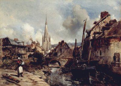 Vue d'Harfleur 1852
