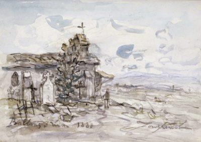 Le cimetière de Balbins et la plaine de Bièvre - 1883