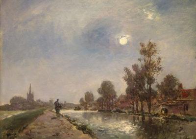 Chemin de halage près D'overschie - 1865
