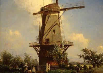 Moulin près de Delf - 1857