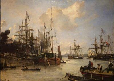 Rotterdam vue du port - 1856