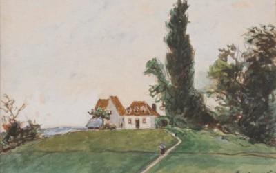 Vie du peintre au hameau de Mallein