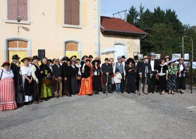 Participants en tenue du 19ème siècle - 140éme anniversaire de l'arrivée de Jongkind en Dauphiné